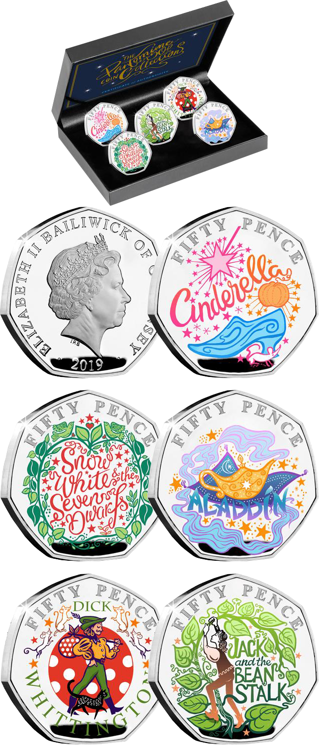 Christmas 2020 Silver Coin GUERNSEY – Christmas Pantomime Silver Proof 50p Set – Silver Coin